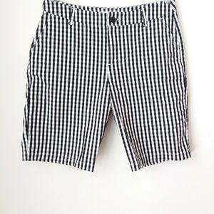 Croft & Barrow | Black White Gingham Shorts
